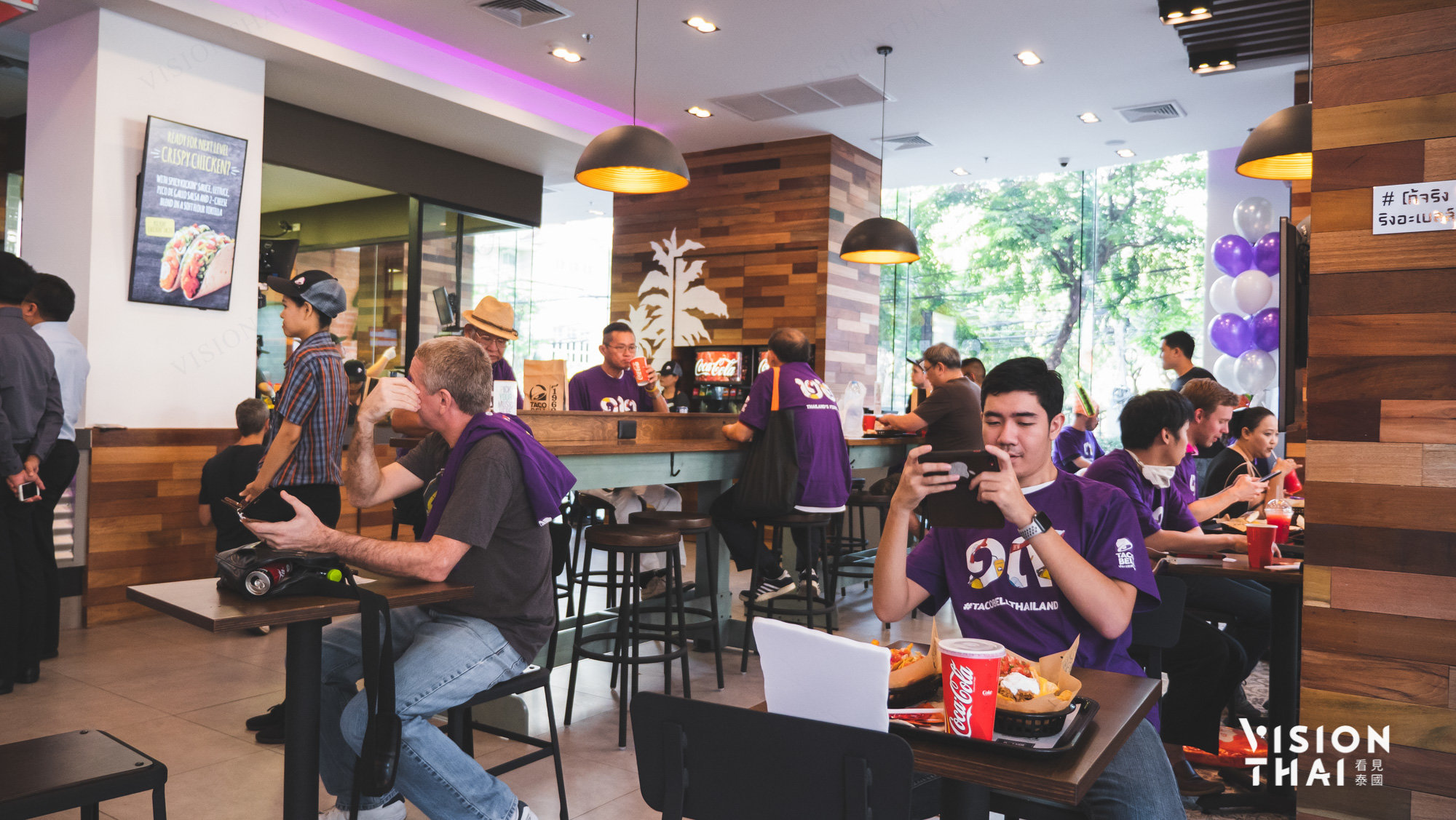 The Taco Bell Thailand located at The Mercury Ville. BTS Chidlom Exit 4. the 60-seat restaurant