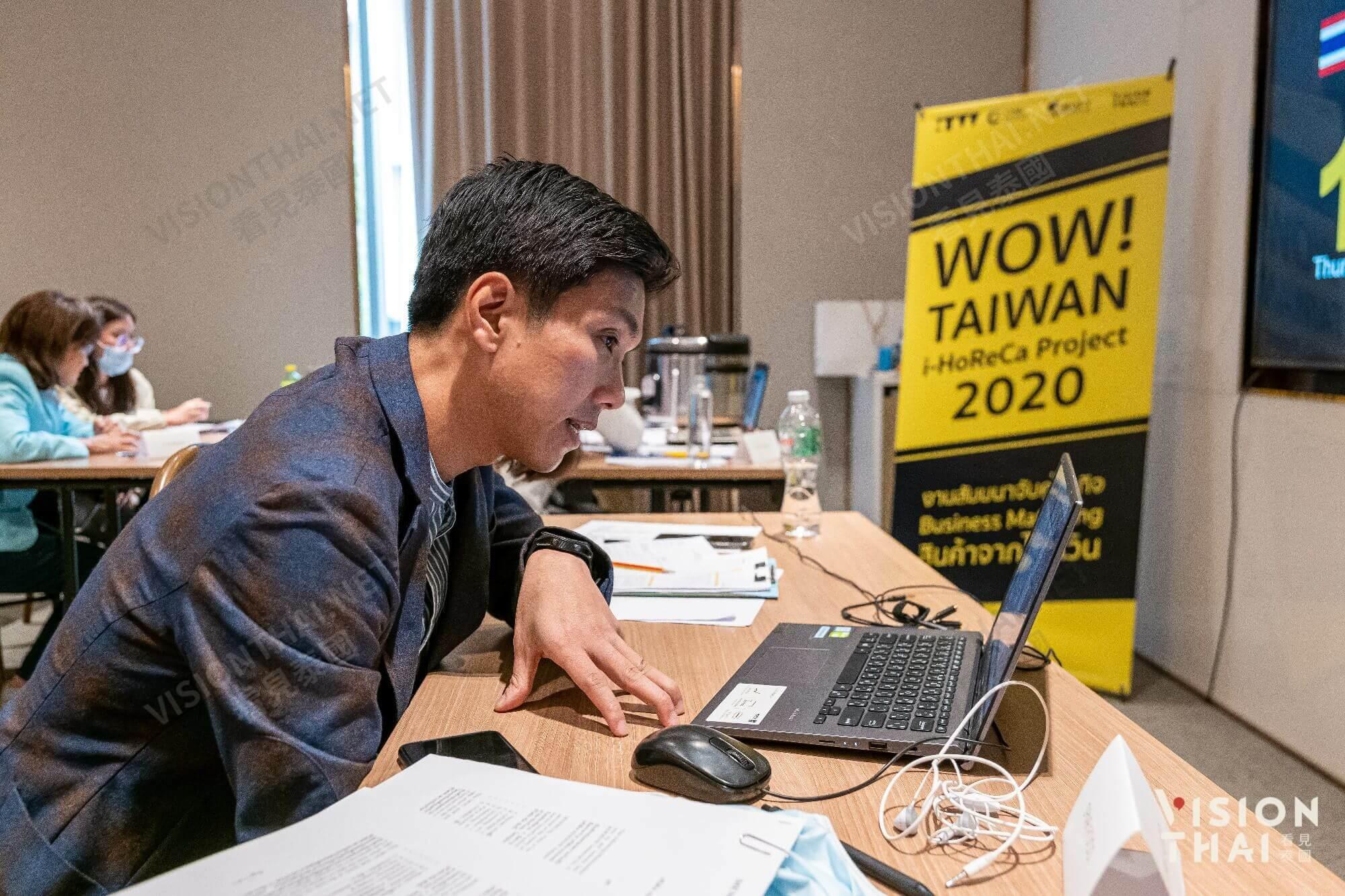 泰國買主透過口譯與台灣廠商視訊媒合(圖片來源:VISION THAI看見泰國)
